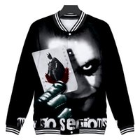 Joker Clown Baseball Jackets Mens Devil Pattern Design 3D Pr...