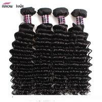 8a Brazilian Deep Wave With Closure Hair Bundles With 4x4 Closure 4bundles Brazilian Virgin Hair With Closure Unprocessed Human Hair We