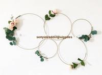Düğün Sign Asma Altın metal çemberler / Çiçek Hoop düğün backgroup dekorasyon senyu0450 için Asma