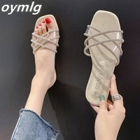 2020 female Sandals Korean version transparent drag shoes female wild non-slip slippers women fashion slippers women Sandals
