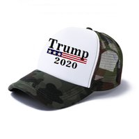 Regolabile Donald Trump Cappelli Mesh età Donne Stampa Lettera Trump 2020 berretti da baseball degli uomini casuali di moda estate Camouflage Sole Sport Snapback
