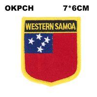 Samoa Flagge Stickerei Eisen auf Patch Stickerei Patches Abzeichen für Kleidung PT0151-S
