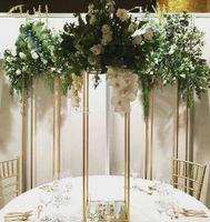 Stand de fleurs 80 cm de haut candélabres de mariage métal table de cristal pièce maîtresse table carrée stand de fleurs pièce maîtresse de mariage, décoration de mariage