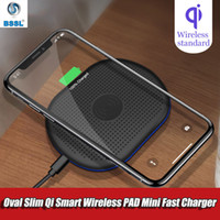 10W Fast Qi Oval Wireless Charging Pad For Samsung Galaxy S1...