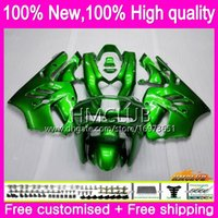 Cuerpo para Kawasaki ZX 9R ZX900 CC ZX9R 94 95 96 97 Kit 69HM.0 ZX900CC ZX 9 R 94 97 900cc ZX9R 1994 1995 1996 1997 completo carenado verde brillante