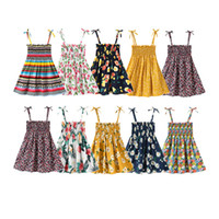 Kid Girl Dress Flower Printed Ins New Summer Boutique Cute S...