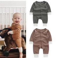 Designer Ins Bambini Boutique Abbigliamento Neonato Ragazzo Abbigliamento Baby Girl Pagliaccetto in cotone manica lunga tuti tute neonate Onesies Bodysuits Bodysuits