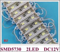 módulo de luz 36mm * 9mm SMD 5730 LED de publicidad módulo DC12V 0.6W 2Led 60lm alta luminosidad estanca CE 2016 NUEVO estilo