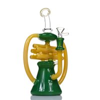 Newest Recycler bong Glass Water Pipe Oil rig bongs Note per...