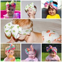 Grande Bow Meninas Headband Grande Bowknot Headwrap Kids Bows para Cabelo Largo Cabeça Turbante Infantil Recém-nascido Headbands