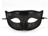 Nieuwe platte hoofd geschilderd schoonheidsmasker retro jazz platte kop masker half gezicht patroon masker 20pcs / lot WL739