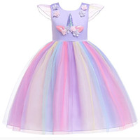 Best selling girls Rainbow Christmas princess Retail New Flo...