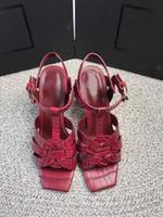 새로운 공물 특허 / 부드러운 가죽 플랫폼 샌들 여성 신발 T 스트랩 하이힐 샌들 레이디 신발은 원래 가죽 펌프