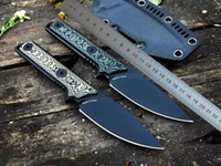 1pcs High Quality Tad Survival Straight Knife A2 Black Titanium Coated Blade Full Tang G10 Handle Fixed Blades Knives With Kydex