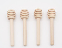 8CM 미니 나무 꿀 스틱 디퍼 꿀 교반로드 꿀 국자 주방 도구 파티 공급 도매 소매