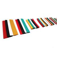 140pcs / 박스 폴리올레핀 모듬 열 수축 튜브 와이어 케이블 절연 슬리브 튜브 세트 파티션 절연체 5 색