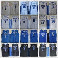 NCAA Duke Blue Devils College Jersey Kyrie 1 Irving Jahlil 15 Okafor Grayson 3 Allen Brandon 14 Ingram Jayson 0 Tatum genähte Trikots