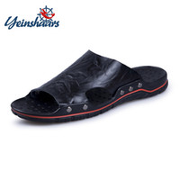 YEINSHAARS 2019 New Fashion Summer Shoes Men' s Slippers...