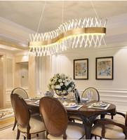 Design de vague Longue Crystal Lustre LED Lampe AC110V 220V Lustre Cristal Kronleuchter Home Lighting Bar Light