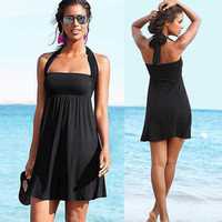 Beahwear 2.019 mulheres vestidos de moda plage moda praia vestidos playa fita envolvida corda Het vertente sol Vestidos Praia playero soleli