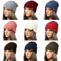 Drop Shipping CC Beanie Women Cap Hat Skully Trendy Warm Chu...