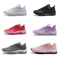 2019 Off 97 Homens Mulheres Running Shoes Williams arco-íris OG fêmeas Designer Esportes Sapatos 97s White Light Grey Wolf Menta Moda Sport Shoes