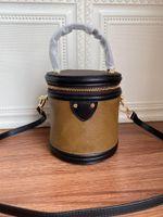 최고 등급 레이디 역 캔버스 코팅 진짜 가죽 칸 가방 여성 어깨 가방 M43986 미용 칸 케이스 화장품