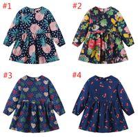 봄과 가을 신상품 다색 긴팔 원피스 아동 A 라인 치마 귀여운 인형 셔츠