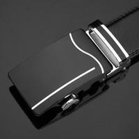 [DWTS] Top qualité Ceinture Homme Ceintures véritable bracelet en cuir pour homme de qualité supérieure boucle automatique ceintures noires en cuir de vache Hommes Ceinture