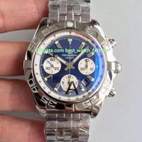 8 Style Best Quality JF Maker 44mm Chronographe 44 Série AB0110121C1A1 Acier Polisée Suisse Suisse Eta 7750 Mouvement Automatique Mens Montres Montres