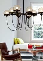 New Nordic Postmodern 5/8/10 светильники Дизайнерская люстра Освещение Современный ресторан Glass Ball Бронзовые люстры гостиная