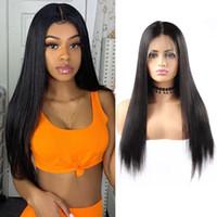 Perruques de cheveux humains en dentelle pleine dentelle dentelle frontale perruques de cheveux humains pour femmes noires 150% densité prépurée avec des cheveux de bébé