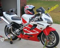 Honda CBR600 CBRF4I 화이트 레드 완성 된 오토바이 부품 2001 2003 (사출 성형)에 대한 CBR 600 F4I 스포츠 공정 키트