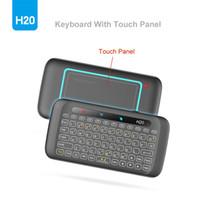 Ultime H20 doppia faccia Mini Wireless touch Full Screen Keyboard Touchpad 2.4Ghz Wireless Mini tastiera per il computer portatile desktop Tablet