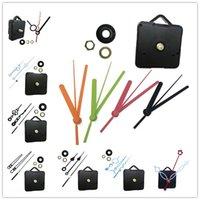 DIY 시계 메커니즘 쿼츠 시계 운동 기계 키트 스핀들 메커니즘 수리 손으로 교차 스티치 이동 시계 액세서리