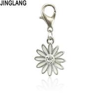 Pendente della lega di fascini del fiore dell'olio di goccia fortunata di JINGLANG per i risultati dei monili della collana del braccialetto fatti a mano del mestiere