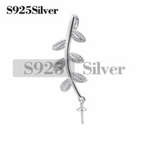 Little Leaves Pendant Pearl Mounts Setting 925 Sterling Silv...