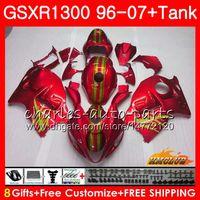 Cuerpo para SUZUKI Hayabusa GSXR 1300 perla al rojo vivo GSXR1300 96 02 03 04 05 06 07 24HC.116 GSX R1300 1996 2002 2003 2004 2005 2006 2007 Carenado