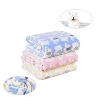 الحيوانات الأليفة بطاطين المرجان الصوف لطيف الفيل المطبوعات الكلب وسادات النوم غطاء سرير حصيرة للصغير متوسط القط الكلب 1 PCS A