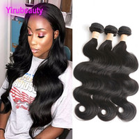 Brazilian Human Hair Long Inch 3 Bundles Body Wave Double Ha...