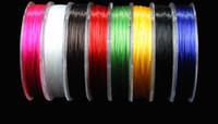 12sytle 3pc / lot cristallo piatto corda stringa della mano cavo Componenti risultati dei monili cuoio 80CM elastico filo, cavo elastico D050