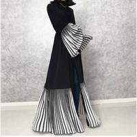 Ethnische Kleidung 2021 Hochklasse Abaya Dubai Muslim Kleid Kaftan Kimono Robe Musulmane Islamische Kaftan Marocain Turkische Vereinigte Staaten Eid Geschenkenteil