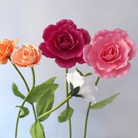 Rosa Gigante cabezas de las flores falsa PE grande Rose de la espuma artificial Telón de fondo decoración de la boda flores del camino conduce Display decoración de la etapa del partido