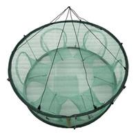 Pêche automatique Piège net Forme Cage ronde Durable Ouvert Crabe Écrevisses Homard YS-BUY