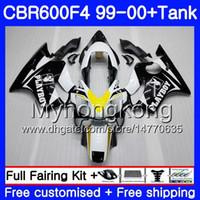 HONDA CBR600 F4 CBR 600 F4 Için vücut + Tank FS fabrika sıcak beyaz CBR600 F 4 287HM.19 CBR600F4 99 00 CBR600FS CBR 600F4 1999 2000