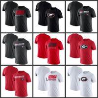 Georgia Bulldogs línea lateral leyenda Rendimiento camisetas de manga corta impresa O-Cuello T Escuela de Fútbol Los deportes de equipo camisetas