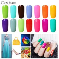 Gelcharm 20 Lucky Color 8ML Macaron Gel Esmalte Uñas Soak Off UV Gel Barniz Base Base Esmalte Laca Semi Permanente