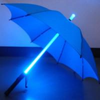 Cool Blade Runner Light Sabre LED Flash Light Umbrella rose paraguas botella paraguas Linterna Night Walkers Envío gratis