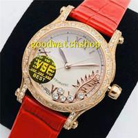 VS Top Happy Sport Женщина Часы Алмазный женские часы Swiss 9015 автоматические механические 28800 VPH сапфировое 18K розовое золото Алмазный диск