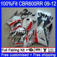Inyección para HONDA CBR 600RR CBR600 RR 2009 2010 2011 2012 282HM.48 CBR 600 RR 600F5 F5 CBR600RR Castrol rojo stock 09 10 11 12 Carenados